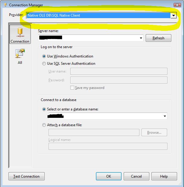 SQLNCLI provider looks fine