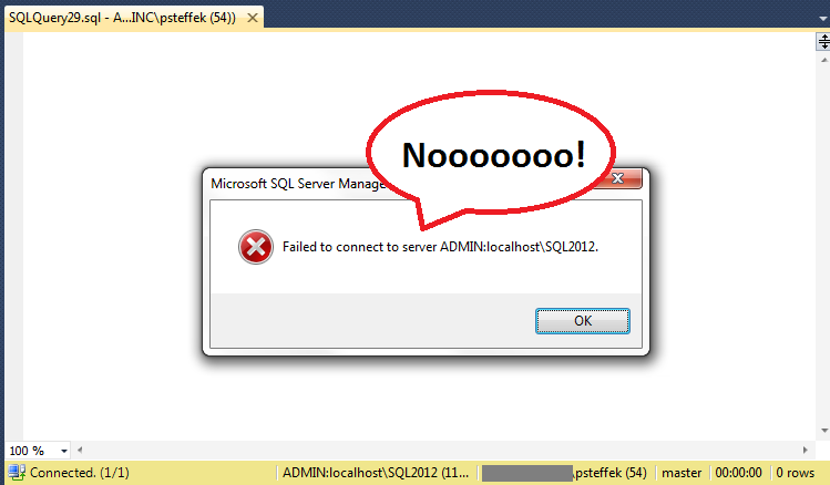 DAC SSMS connection error 6