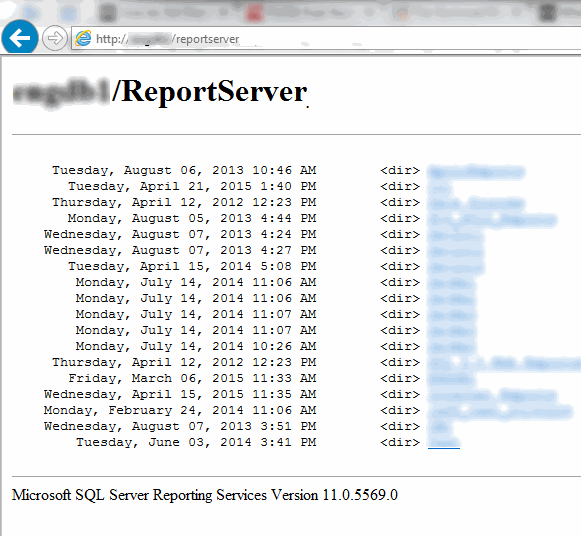 SQL Server Reporting Services Report Server